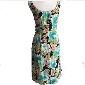Suzi Chin black floral dress 8-10